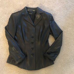 Escada 100% leather jacket